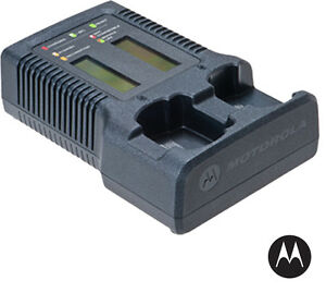 Motorola Nntn7593 Impres Dual Unit Charger With Display apx 6000 7000 8000