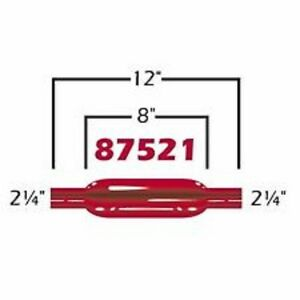 Cherry Bomb 87521cb Red Glass Pack Muffler Straight 2 25 Inlet Outlet 12 L