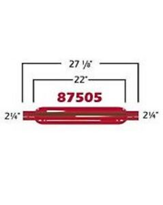 Cherry Bomb 87505cb Red Glass Pack Muffler Straight 2 25 In Outlet 27 125 L