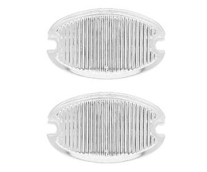1957 Chevrolet 150 210 Bel Air Nomad Back Up Lamp Light Lens Clear Pair L4606