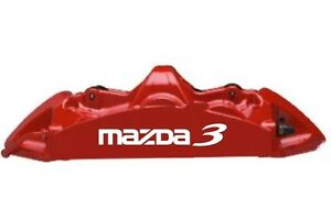 Mazda 3 Brake Caliper High Temp Vinyl Decal Stickers Any Color 6x