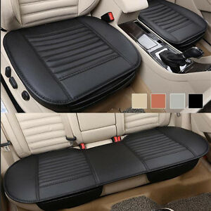 Black Synthetic Leather Seat Covers For Auto Car Front Rear Seat Cushion