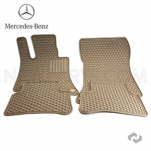 Genuine For Mercedes Cls E Class C218 W212 Beige All Season Floor Mats Q6680712