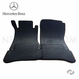 New Genuine Mercedes C class W203 S203 Black Carpeted Floor Mats 02 07 Oem Set 4