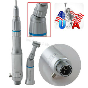 Us Stock Dental Slow Low Speed Handpiece Kit Push E type Contra Air Motor 2 Hole