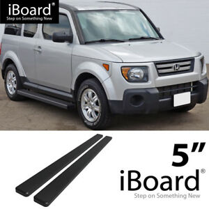 Running Board Side Step Nerf Bars 5in Black Fit Honda Element 03 11