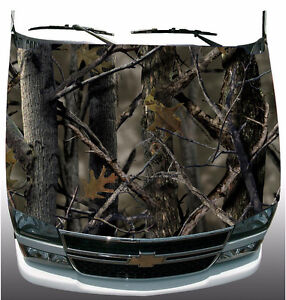 Real Tree Camo Hood Wrap Vinyl Graphic Decal Sticker Wrap Car Or Truck