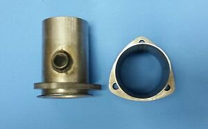 3 Header To 3 Od Aluminized 3 Bolt Gasket Style Header Collector W 02 Bung Usa