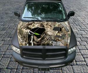 Grim Reaper Bow Hunter Camo Vinyl Graphic Decal Sticker Wrap Truck Car