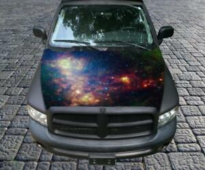 Deep Space Galaxy Nasa Picture Vinyl Graphic Decal Hood Wrap For Truck Or Car