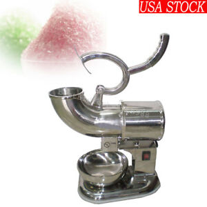 Us Fast Ship Ice Shaver Machine Sno Snow Cone Maker Shaved Icee Electric Crusher