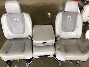 2003 2005 Ram 1500 2500 3500 Tan Leather Power Front Seats