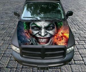 Evil Clown d c Comics Joker Vinyl Graphic Decal Hood Wrap For Truck Or Car