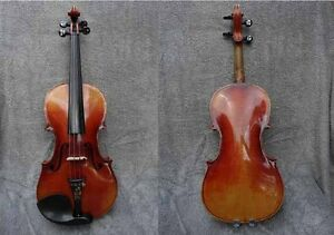 Early 1900s C Bruno E Martin Sachen Germany Mop Inlaid Etched 4 4 Violin
