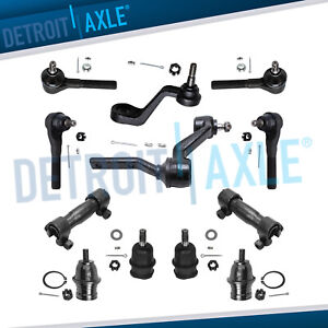 Front Ball Joint Tie Rods Pitman Idler Arm Kit For 1991 1996 Dodge Dakota 4wd