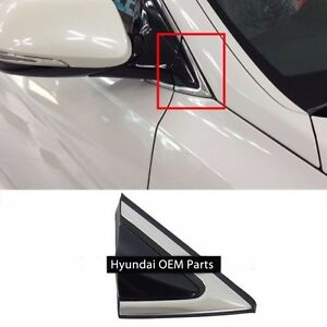 Fender Corner Chrome Molding 2013 2018 Santa Fe Right Passenger Mirror Trim