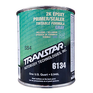 Transtar 2k Epoxy Primer sealer gray Dtm Quart 6134