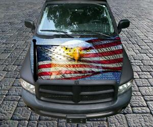 Vietnam Tribute American Flag Eagle Vinyl Graphic Decal Hood Wrap For Truck Car