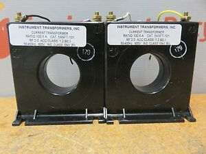 Instrument Transformers Current Transformer Ratio 100 5a 5asft 101 600v Lot Of 2