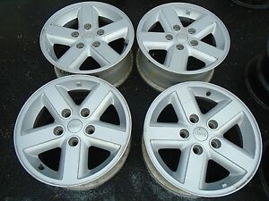 2007 2010 16 Jeep Wrangler Wheel Rims Set Of 4 Oem