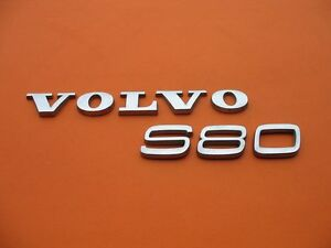 99 00 01 02 03 04 05 06 Volvo S80 Rear Lid Chrome Emblem Logo Badge Sign Set 4