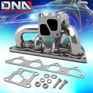 Twin Scroll Stainless Racing Turbo Manifold Exhaust For 01 07 Evo 7 8 9 4g63t