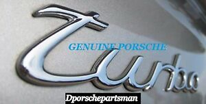 Porsche 911 Turbo Emblem Turbo Silver For Decklid Genuine New Ns