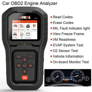 Auto Obdii Car Diagnostic Scanner Tool Check Engine Code Reader Ancel Ad510 Us