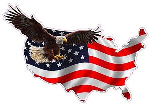 American Eagle United States Xxx Large Decal 34 X 48 Free Shipping
