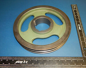 A106 B110 Pulley Sheave Double Groove 11 1 4 11 25 Outer Diameter
