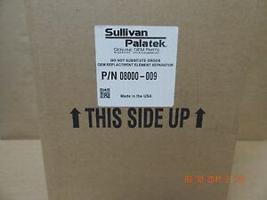 New Oem Sullivan Palatek Helical Screw Air Compressor Separator 08000 009