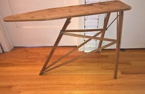 Vintage Our Own Ironing Table No 34 National Washboard Co Wooden Laundry Board