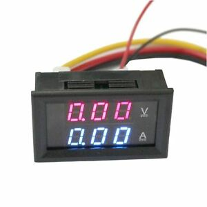 2in1 Digital Voltage Current Tester Volt Meter Ammeter Voltmeter Red Led Display