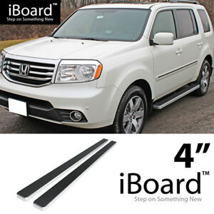 Running Board Side Step Nerf Bars 4in Silver Fit Honda Pilot 09 15