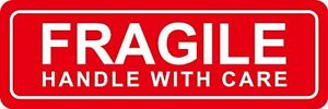 Premium 100 Labels 1x3 Please Fragile Handle With Care Shipping Mailing Stickers
