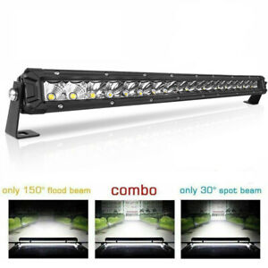 Cree 280w 22inch Led Light Bar Combo Offroad Spot Flood Truck Boat 4wd Suv 20 24