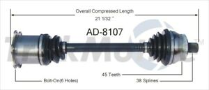 For Audi Allroad Quattro 2 7 01 05 Front Driver Left Cv Axle Shaft Assy Surtrack