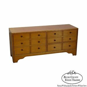 American Artech By Hickory Kaylyn Low Birdseye Maple Chest