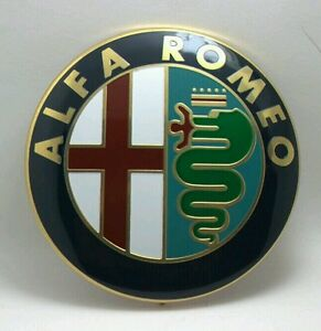 2x Alfa Romeo Giulietta Mito 159 156 147 Car Logo Front Rear Emblem Badge 74 Mm
