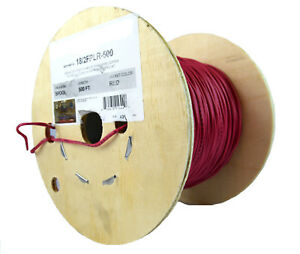 2c 18 Awg Solid Copper Red Fire Alarm Wire Security Cable Fplr Pvc 500 Ft Ul