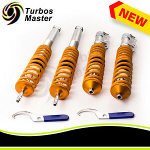 4pcs Coilovers Kit For Vw Jetta Mk2 Golf Mk2 Mk3 Hatchback Cabriolet