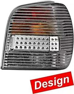 Hella Vw Polo Mk3 Hatchback 1993 1999 Led Silver Tail Lights Set