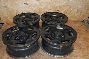 02 03 04 05 06 07 Jeep Liberty 16 5 Spoke Black Steel Wheels Rims Set Of 4