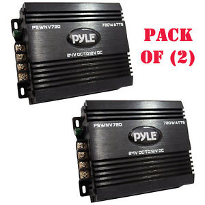 Pack Of 2 Pyle Pswnv720 24 12v Dc Power Step Down Converter 720w Pmw Technology