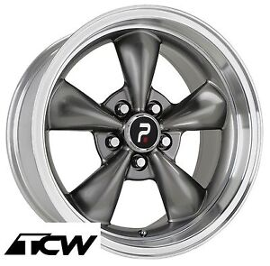4 17x8 Inch Bullitt Replica Silver Wheels Rims 5x4 50 Fit Ford Mustang 65 73