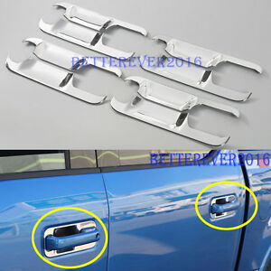 Fits 2015 2017 Ford F 150 F150 4dr Crew Cab Door Handle Bowl Cover Trim Chrome
