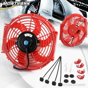 10 Inch Universal 12v Pull Push Car Radiator Engine Cooling Fan Mounting