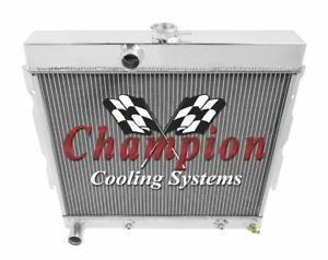 1967 68 69 Plymouth Satellite 4 Row Champion Ca Radiator