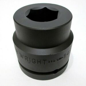 Wright Tool 84822 1 3 8 Impact Socket 1 1 2 Drive 6 point 1 3 8 In Made In Usa