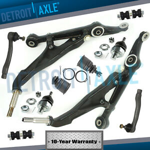 10pc Front Lower Control Arm Sway Bar Tie Rod For Honda Civic No Si